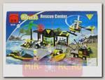 Конструктор Станция спасателей (причал, вертолет, лодка), 520 деталей