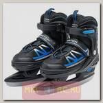 Прогулочные коньки, размер 33-36, сине-черные