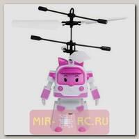 Радиоуправляемая игрушка-вертолет RoboCar Poli 2in1 (Эмбер и Рой)