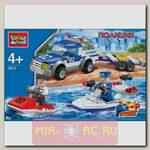 Конструктор Полиция - Пикап с лодкой
