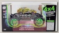 Радиоуправляемая машина FullFunk Безумные Гонки (на аккум.), желто-зеленая, 1:16