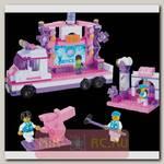 Конструктор Розовая мечта - Передвижная сцена (свет), 369 деталей