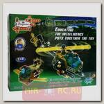 Конструктор Вертолет c отверткой и гаечным ключом, 109 деталей