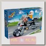Конструктор Полицейский на мотоцикле, 140 деталей
