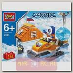 Конструктор Арктика - Полярник на снегоходе, 132 детали