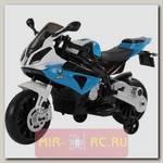 Детский электромотоцикл Jiajia BMW S1000PR 12V (синий)
