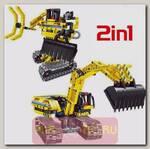 Конструктор QiHui Technics 6801 2в1 (экскаватор и робот)