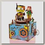 Деревянный 3D-конструктор музыкальная шкатулка Robotime Machinarium
