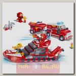 Конструктор Пожарная команда: катер и джип, 392 детали