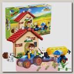 Конструктор EcoFarm Фермерский домик, 185 деталей