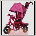 Трехколесный велосипед Beauty с ручкой, розово-красный