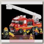 Конструктор Пожарные спасатели - Грузовик с выдвижной лестницей, 267 деталей