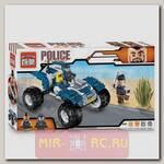Конструктор Полиция - Квадроцикл, 136 деталей