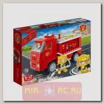 Конструктор с инерционным механизмом Пожарная машина, 126 деталей