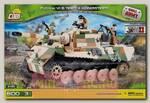 Пластиковый конструктор COBI Танк Tiger II с тремя фигурками людей