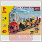 Конструктор Стройтехника - Тягач с трактором, 308 деталей
