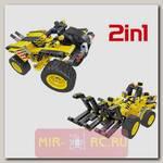 Конструктор QiHui Technics 6804 2в1 (трактор и багги)