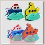 Набор из 2 игрушек-конструкторов Кораблик и подводная лодка