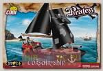 Пластиковый конструктор COBI Корабль Corsair Ship с фигурками людей