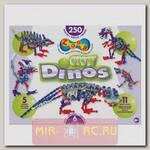 Подвижный конструктор Zoob - Glow Dinos, 250 деталей